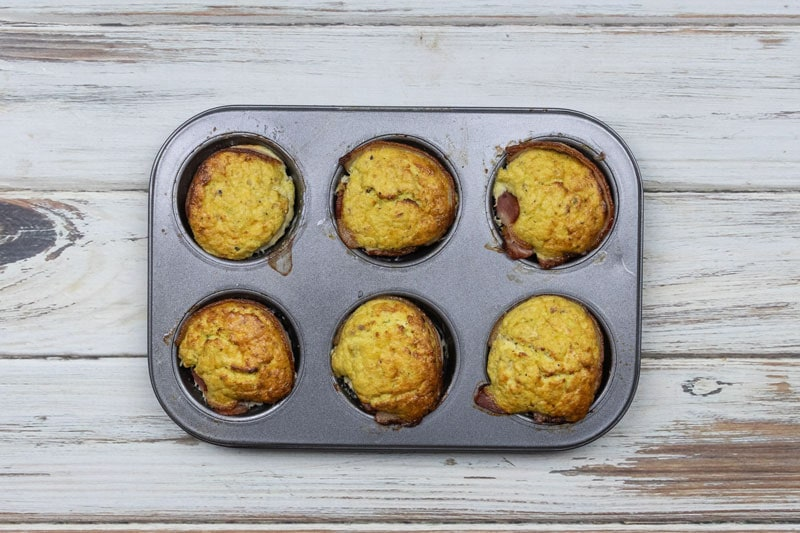 Apple and Bacon Egg Muffins baked