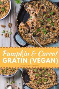 Vegan pumpkin and carrot gratin