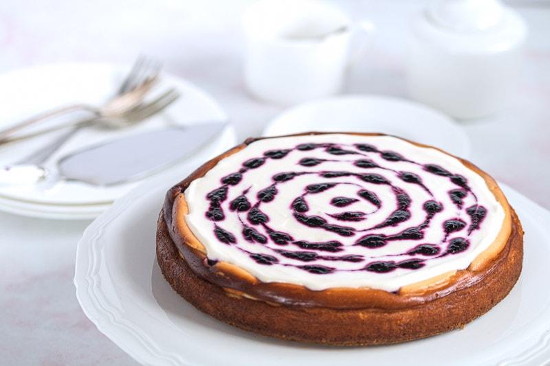 Valentine's Blueberry Cheesecake