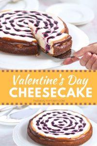 Valentine's Day Blueberry Cheesecake