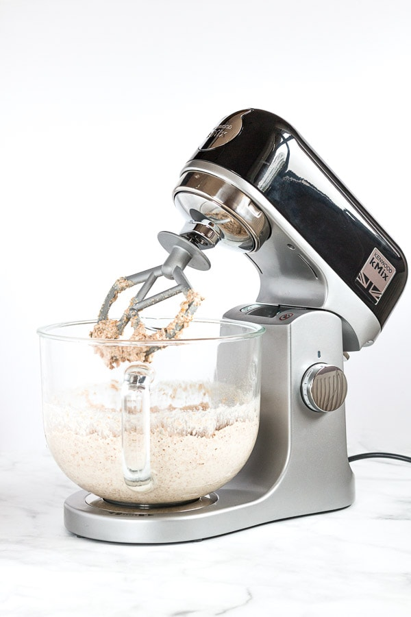 Multi seeded wholemeal soda bread dough