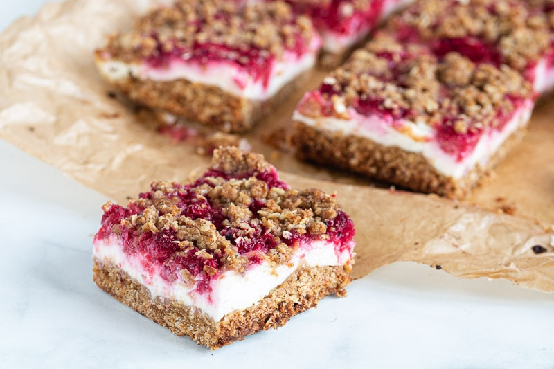 Raspberry Yoghurt Slices